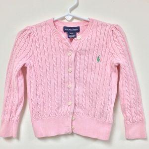 Ralph Lauren pink cardigan 3T